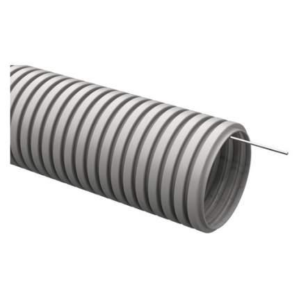 Труба гофр. гибкая ПВХ IEK (CTG20-25-K41-025I) внеш.D=25мм с протяжкой 25м сер.
