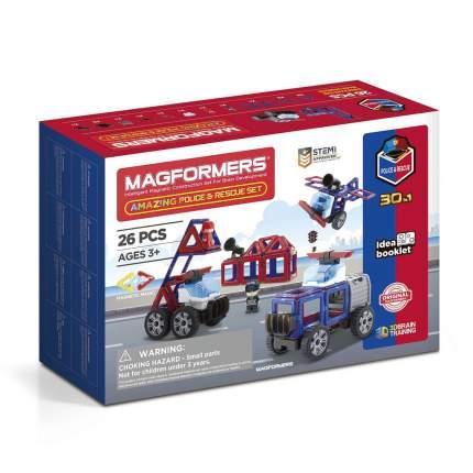Магнитный конструктор Magformers Amazing Police & Rescue Set