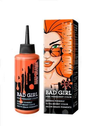 Прямой краситель для окрашивания волос BAD GIRL неоновый оранжевый mad orange 150 мл
