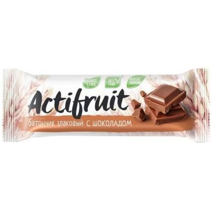 """Батончик злаковый Actifruit """"Шоколад"""", 24 г"""