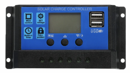 Автоматический контроллер заряда солнечной батареи Cewaal, 20А