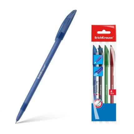 Ручка шариковая ErichKrause® R-101 синий черный красный зеленый в пакете 4 шт