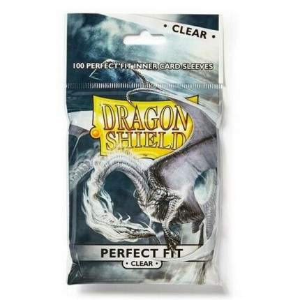 Протекторы для карт Dragon Shield Внутренние прозрачные протекторы (perfect fit clear)
