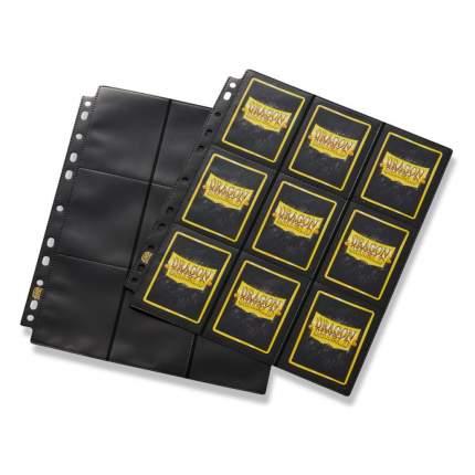 Альбом для карт Dragon Shield лист для альбома 18-Pocket Pages черный Glare