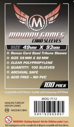 Протекторы для настольных игр Mayday Roman Card Sized Tribune (49x93) 100 штук