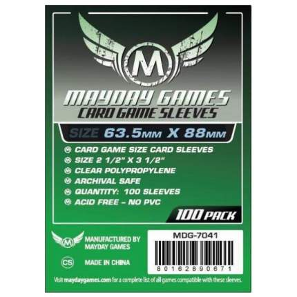 Протекторы для настольных игр Mayday Card Game (63,5x88) 100 штук