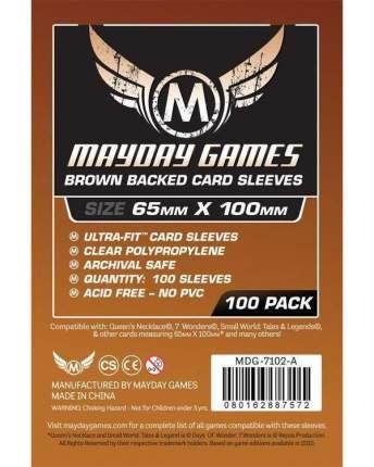 Протекторы для настольных игр Brown Backed Magnum Copper Sleeve 65x100 (100)