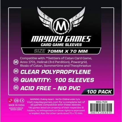 Протекторы для настольных игр Mayday Small Square Card (70x70) - 100 штук