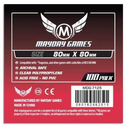 Протекторы для настольных игр Mayday Medium Square Card (80x80) 100 штук