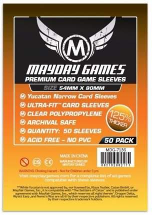 Протекторы для настольных игр Mayday Premium Yucatan Narrow Card Game (54x80) 50 штук