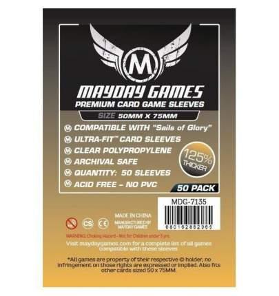 Протекторы для настольных игр Mayday Premium Sails of Glory (50x75) 50 штук