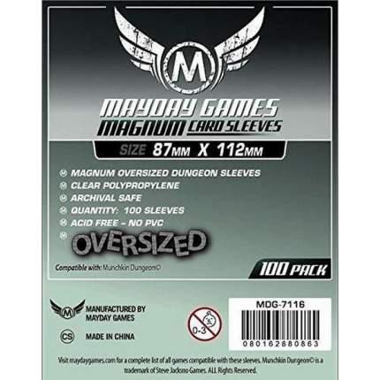 Протекторы для настольных игр Mayday Magnum Oversized Dungeon (87x112) 100 штук