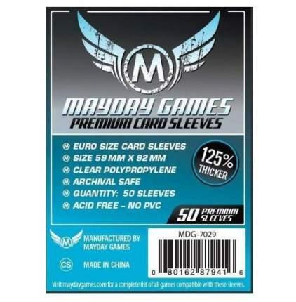 Протекторы для настольных игр Mayday Premium Euro Card (59x92) 50 штук