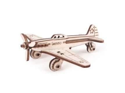 Конструктор 3D деревянный Lemmo Самолет ЯК-9