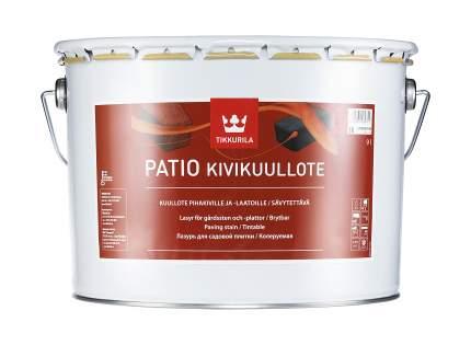 Лазурь Tikkurila Patio Kivikuullote для садовой плитки колеруемая 9 л