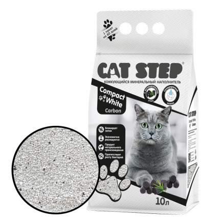 Комкующийся наполнитель для кошек Cat Step Compact White Carbon бентонитовый, 8.4 кг, 10 л