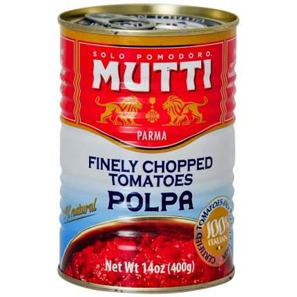 Томаты Mutti резаные кубиками в томатном соке консервированные 400 г Италия
