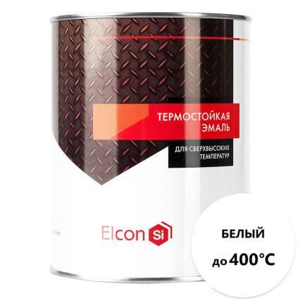 Термостойкая антикоррозийная эмаль Elcon до 400° белый (0.8 кг)