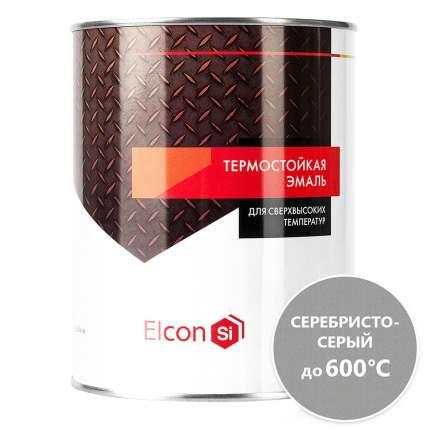 Термостойкая антикоррозийная эмаль Elcon до 600° серебристо-серый (0.8 кг)
