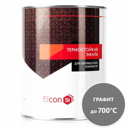 Термостойкая антикоррозийная эмаль Elcon до 700° графит (0.8 кг)