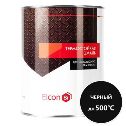 Термостойкая антикоррозийная эмаль Elcon до 500° черный (0.8 кг)