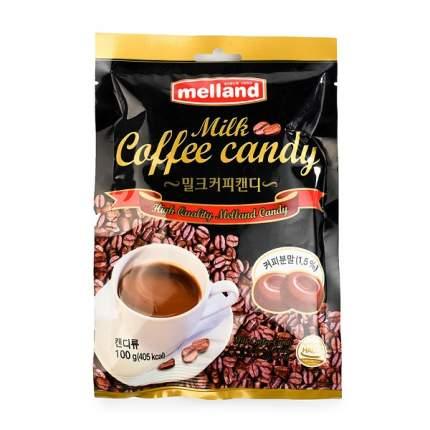 Карамель Melland леденцовая Кофе с молоком 100 г в пакете Южная Корея