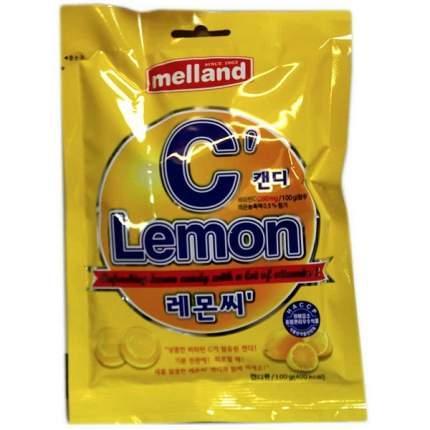 Карамель Melland леденцовая Лимон 100 г в пакете Южная Корея
