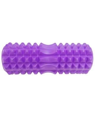 Ролик массажный, шипы, пустой центр 33x14 см, маленький, фиолетовый