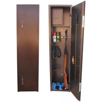 Сейф оружейный 1-5 стволов Тонар Гарант Ш-021, 1400х350х250 мм, 49 кг
