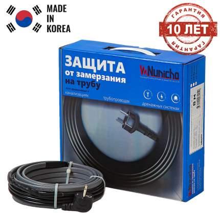 Греющий кабель на трубу NUNICHO 24 Вт/м 5 м, готовый комплект саморегулирующийся
