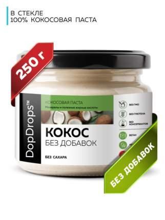 Паста Кокосовая DopDrops (Урбеч из мякоти кокоса) без добавок, 250 г