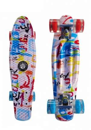 "Скейт Cruiser Board ""Street Hit"" Graphics Граффити со светящимися колесами"