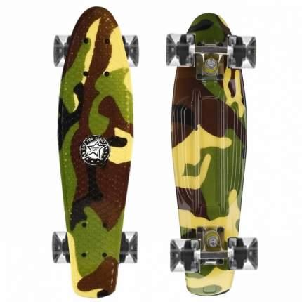 "Скейт Cruiser Board ""Street Hit"" Graphics Камуфляж со светящимися колесами"