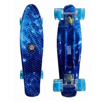 "Скейт Cruiser Board ""Street Hit"" Graphics Космос со светящимися колесами"