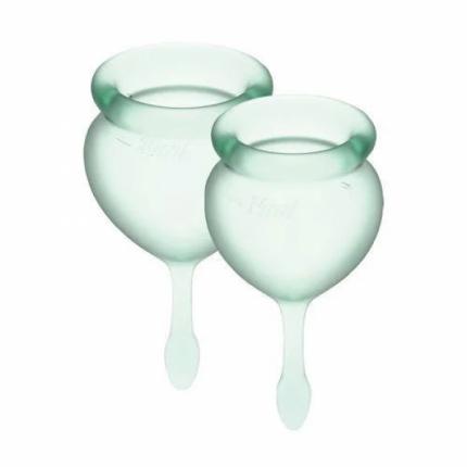 Менструальные чаши Satisfyer Satisfyer  Feel Good 15 и 20 мл салатовые