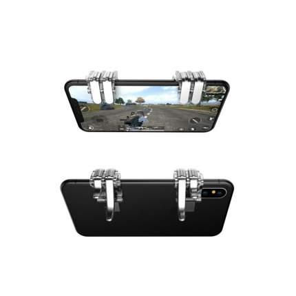 Джойстик для мобильного телефона игровой триггер L1R1 W6 (Серебро/прозрачный)