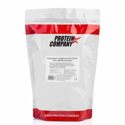 Протеин Protein.Company Whey Protein 80%, 1000 г, без вкуса