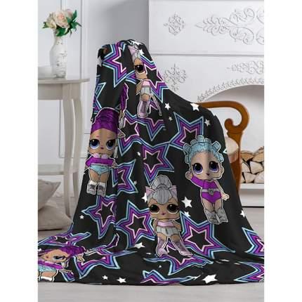 Плед Протекс Павлинка Аэро Софт Куклы LOL звезда черный, 150x200