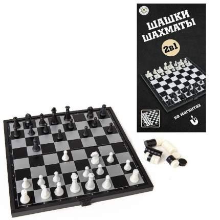 Игра настольная Junfa Toys Шахматы и шашки магнитные S-00184