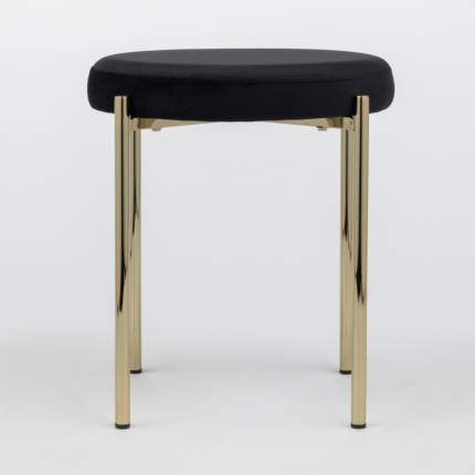 Табурет Series 430 черный велюр с золотыми ножками StoreForHome / C-993-BLACK-GOLD