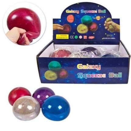 Игрушка-антистресс Мяч с глиттером, 10 см Junfa Toys