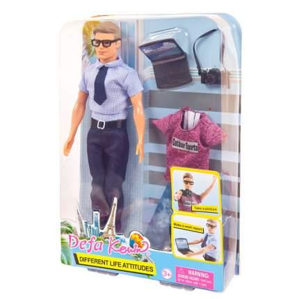 Кукла Defa Lucy Юноша со сменной одеждой 8385d, фотограф или офисный работник