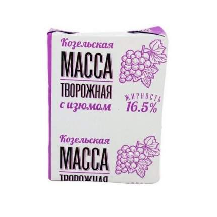Бзмж тв.масса изюм 16.5% фольга 200г козельск