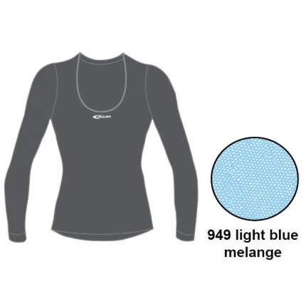 Термофутболка Accapi Tecnosoft Plus Long Sl.wide Neck T-Shirt Lady, light blue mel, S
