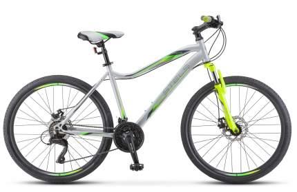 """Велосипед Stels Miss 5000 MD 26 V011 2021 16"""" серебристый/салатовый"""