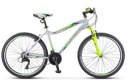 """Велосипед Stels Miss 5000 V 26 V041 2021 18"""" серебристый/салатовый"""