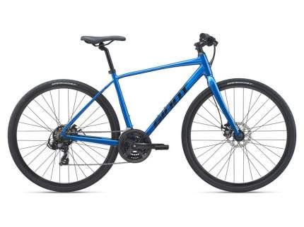 Велосипед Giant Escape 3 Disc 2021 M металик/синий