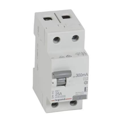 Выключатель дифф. тока Legrand RX3 (402032) 25A 300мА AC 2П 230В 2мод