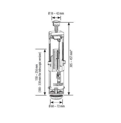 Колонка для сливного бачка SIAMP BRIO 573 двухрежимная
