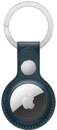 Умный брелок Apple AirTag Leather Key Ring - Baltic Blue (MHJ23ZM/A)
